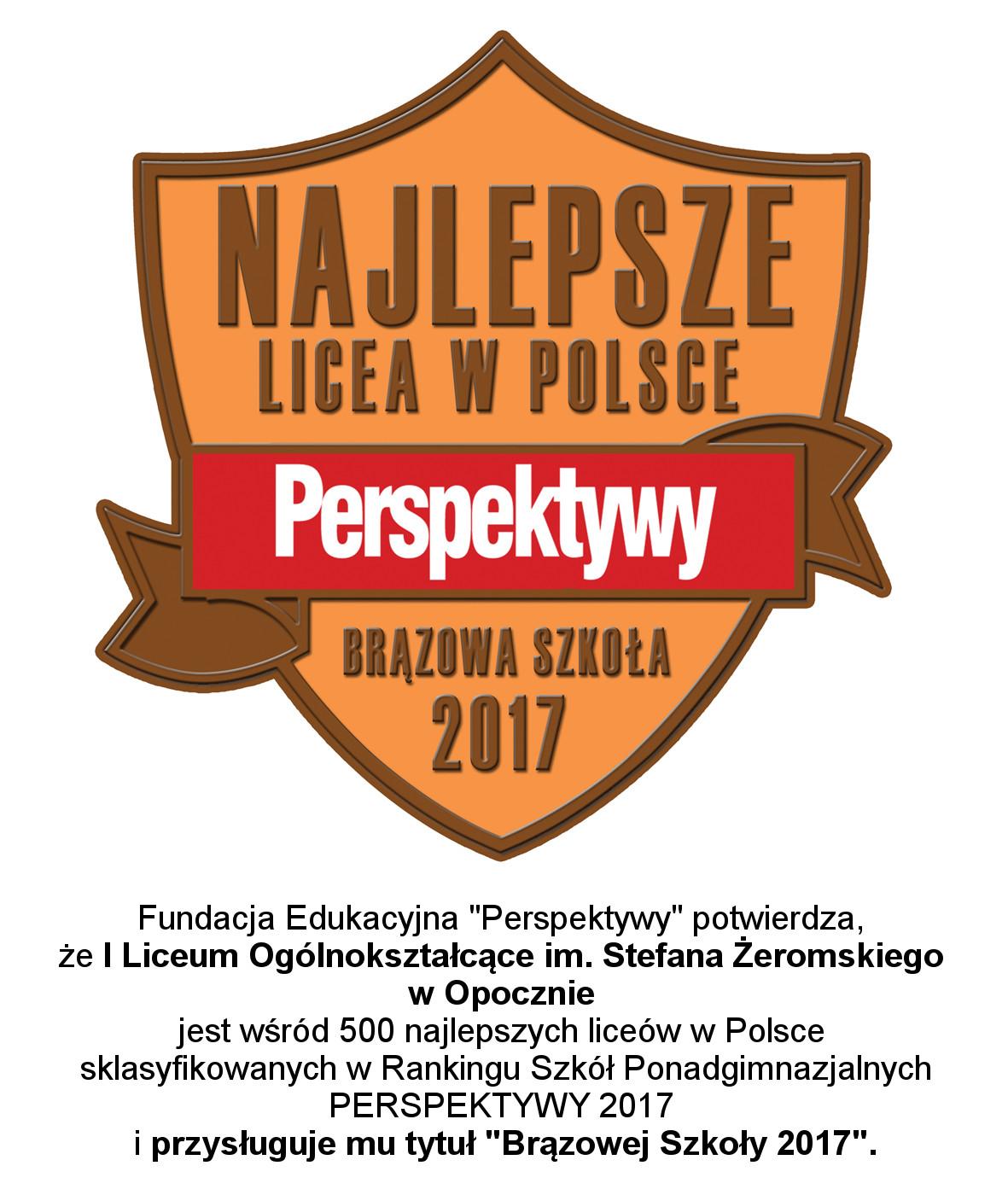 Ranking Szkół Ponadgimnazjalnych 2017