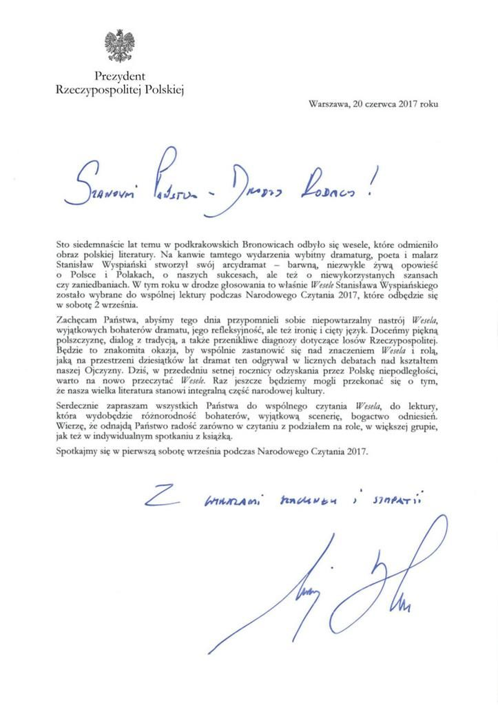 list_prezydenta_narodowe_czytanie_z