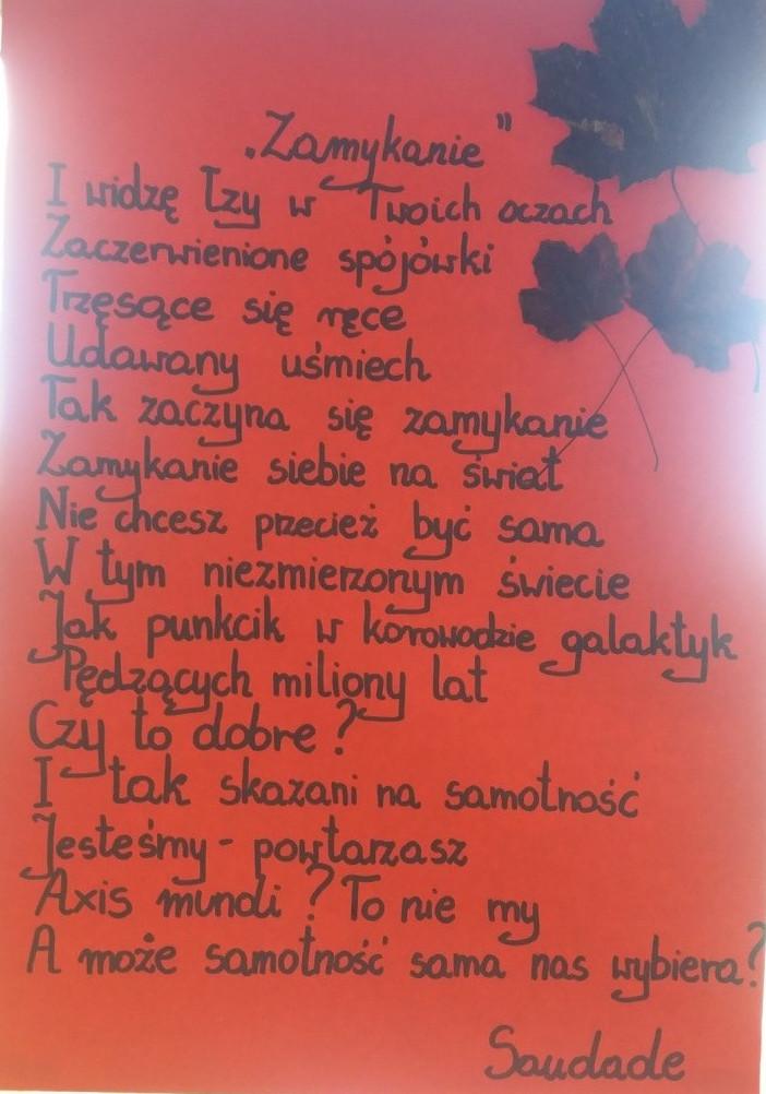Dzień Poezji W Naszej Szkole Edycja I I Liceum