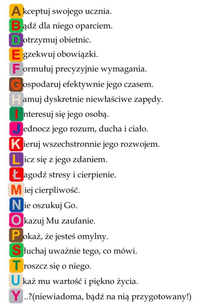 alfabet pedagoga