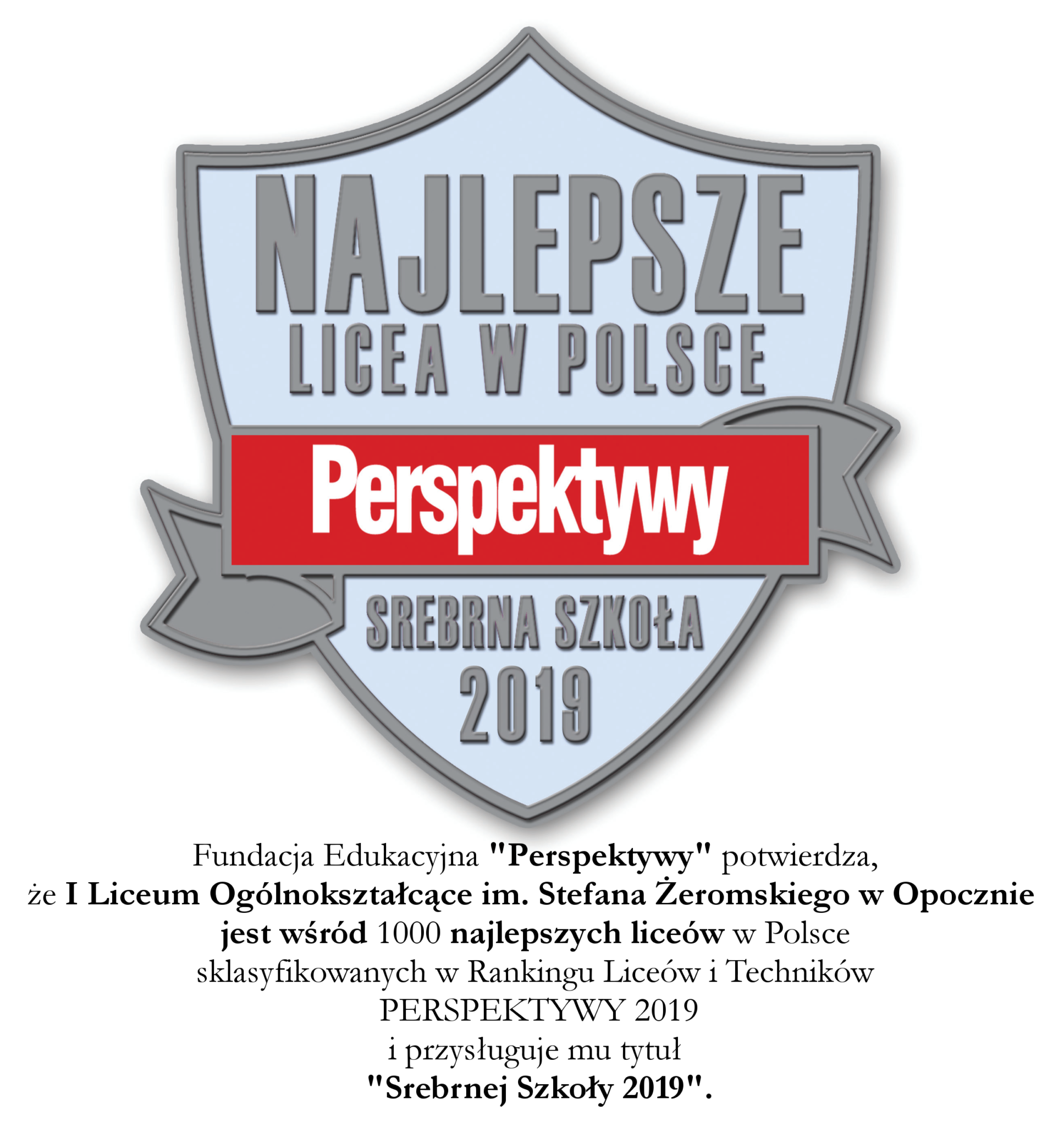 Ranking Szkół Ponadgimnazjalnych 2019